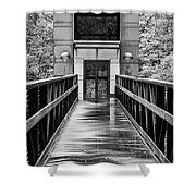 Rainy Day At Crystal Bridges Shower Curtain
