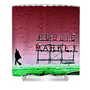 Rainy Day At The Market Shower Curtain