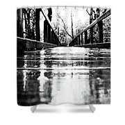 Take A Walk With Me In The Rain Shower Curtain