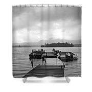 Rainy Day Dock Shower Curtain