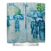 Rainy Day Impression Shower Curtain