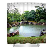 Rainy Day In Kyoto Palace Garden Shower Curtain