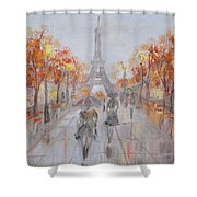 Rainy Day In Paris Shower Curtain