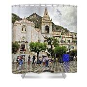Rainy Day In Taormina 2 Shower Curtain