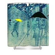 Rainy Day In The City Shower Curtain