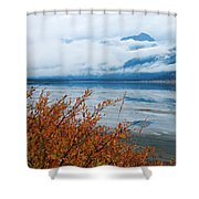 Rainy Day In The Mountains Shower Curtain