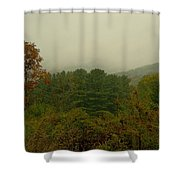 Rainy Day In White Creek Shower Curtain