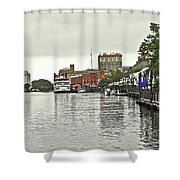 Rainy Day In Wilmington Shower Curtain