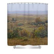 Rainy Day On The Plains Shower Curtain