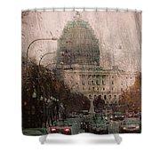 Rainy Dc Shower Curtain