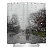 Rainy Fall Day Shower Curtain