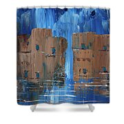 Rainy Night At The Pueblo Shower Curtain