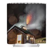 Rainy Night At The Sugarhouse Shower Curtain