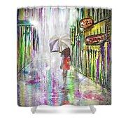 Rainy Paris Day Shower Curtain by Darren Cannell