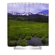 Rainy Season Shower Curtain by Barbara Schultheis
