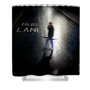 Rainy Whether In An Evening In  London. Shower Curtain