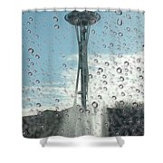 Rainy Window Needle Shower Curtain