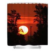 Rising Sun  Shower Curtain
