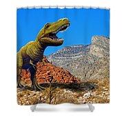 Rajasaurus In The Desert Shower Curtain