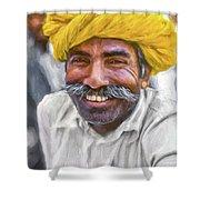 Rajput High School Teacher - Paint Shower Curtain