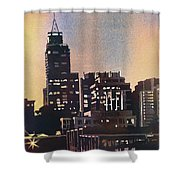 Raleigh Skyscrapers Shower Curtain