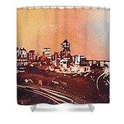 Raleigh Sunrise Iv Shower Curtain