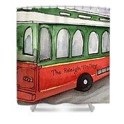 Raleigh Trolley Shower Curtain