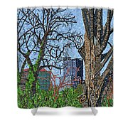 Raleigh - View From Chavis Park Shower Curtain