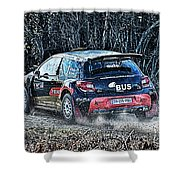 Rally Car Shower Curtain