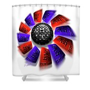 Rally Round The Flag Shower Curtain
