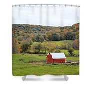 Ram Hollow Barn Shower Curtain