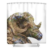 Ram Rover Shower Curtain