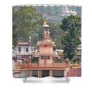 Ram Statue - Rishikesh India Shower Curtain