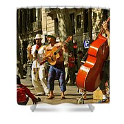 Ramblas Barcelona Shower Curtain