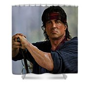 Rambo Sylvester Stallone Shower Curtain
