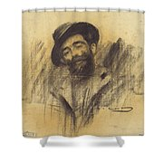 Ramon Casas - Mnac- Eliseu Meifren Shower Curtain