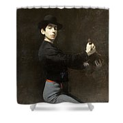 Ramon Casas - Self-portrait  2 Shower Curtain