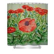 Ramonas Poppies Shower Curtain