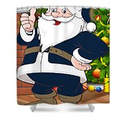 Rams Santa Claus Shower Curtain