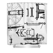Ramsdens Dividing Engine, 18th Century Shower Curtain