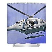 Ran N49 Bell 429 Global Ranger N49-048 Shower Curtain