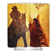 Ranch Girl Selfie Shower Curtain