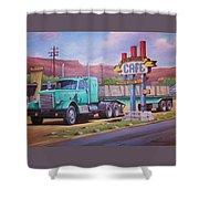 Ranch House Truckstop. Shower Curtain