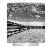 Ranch In Winter Shower Curtain