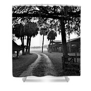 Ranch Life Bw Shower Curtain