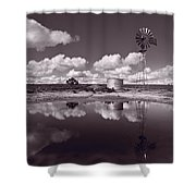 Ranch Pond New Mexico Shower Curtain