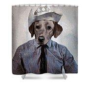 Rancher Dog Shower Curtain