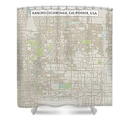 Rancho Cucamonga California Us City Street Map Shower Curtain