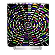 Random Color Oval Abstract Shower Curtain