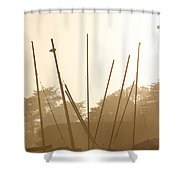 Random Masts Shower Curtain